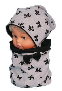 Children's cotton hat with a fireplace (w-53 B)