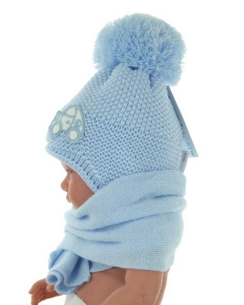 Baby hat with a scarf (CZ + S 004D)