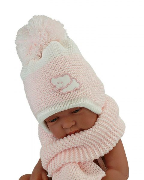Baby hat with a scarf (CZ + S 045B)