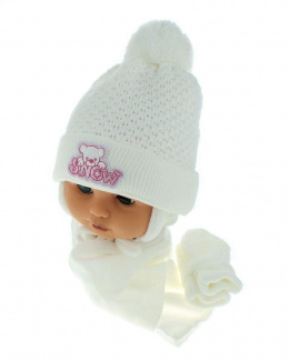 Baby hat with scarf and gloves (CZ + S + R 011E)