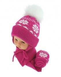 Baby hat with scarf and gloves (CZ + S + R 012A)