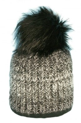 Beanie with Pom Pom fur PART 144A