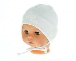 White cotton baby Hat-088