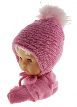 Baby hat with a scarf CZ + S 015C