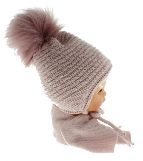 Baby hat with a scarf CZ + S 015D