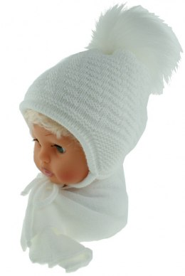 Baby hat with a scarf CZ + S 015