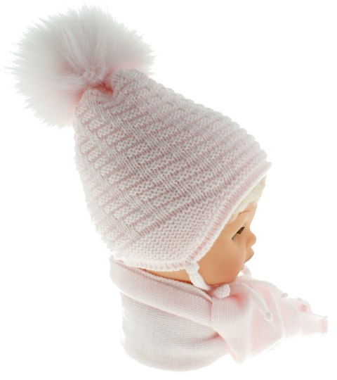 Baby hat with a scarf CZ + S 015B