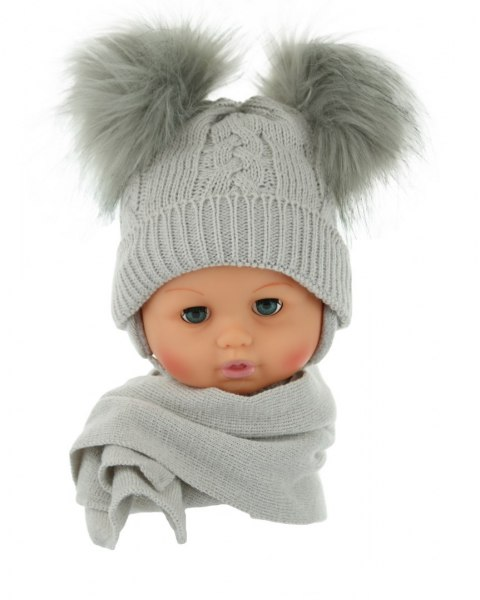 Baby hat with a scarf (CZ + S 016D)