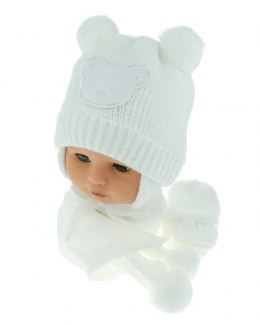 Baby hat with scarf and gloves (CZ + S + R 124C)